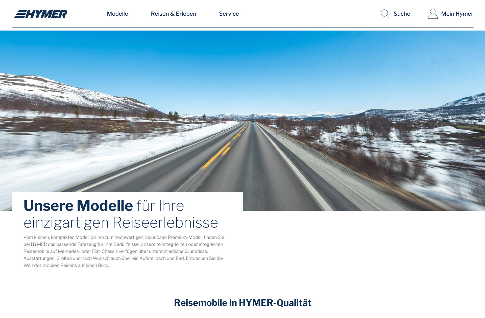 Hymer Homepage